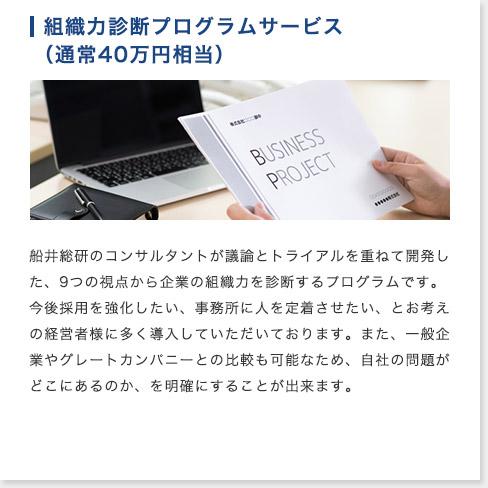 組織力診断プログラムサービス(通常40万円相当)