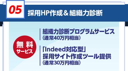 採用HP作成&組織力診断